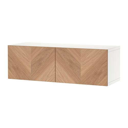 BESTÅ - 上牆式貯物組合, white Hedeviken/oak veneer   IKEA 香港及澳門 - PE824439_S4