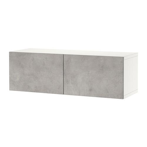BESTÅ - 上牆式貯物組合, white Kallviken/light grey concrete effect | IKEA 香港及澳門 - PE824445_S4