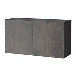 BESTÅ - 上牆式貯物組合, black-brown Kallviken/dark grey concrete effect | IKEA 香港及澳門 - PE824447_S3