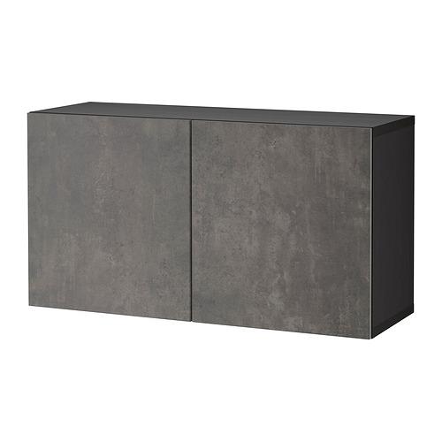 BESTÅ - 層架組合連門, black-brown/Kallviken dark grey | IKEA 香港及澳門 - PE824447_S4
