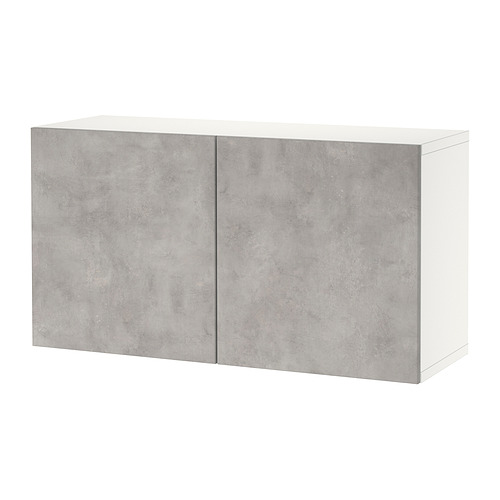 BESTÅ - 上牆式貯物組合, white Kallviken/light grey concrete effect | IKEA 香港及澳門 - PE824450_S4