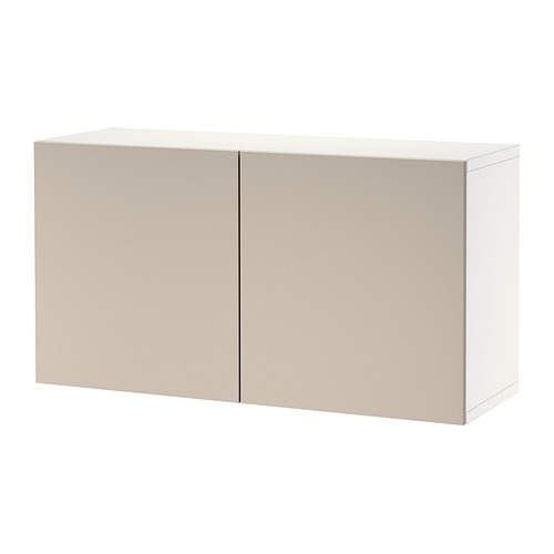 BESTÅ - 層架組合連門, white/Lappviken light grey-beige | IKEA 香港及澳門 - PE824452_S4