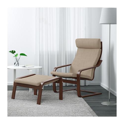 POÄNG - armchair, brown/Hillared beige   IKEA Hong Kong and Macau - PE631653_S4