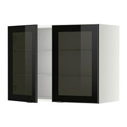 METOD - 吊櫃連層板/1對玻璃門, white/Jutis smoked glass | IKEA 香港及澳門 - PE349387_S3