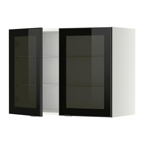 METOD - 吊櫃連層板/1對玻璃門, white/Jutis smoked glass | IKEA 香港及澳門 - PE349387_S4