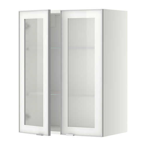 METOD - wall cabinet w shelves/2 glass drs, white/Jutis frosted glass | IKEA Hong Kong and Macau - PE349394_S4