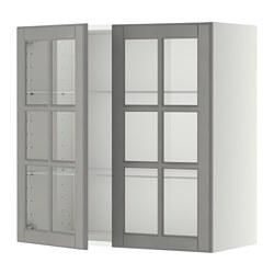 METOD - 吊櫃連層板/1對玻璃門, white/Bodbyn grey | IKEA 香港及澳門 - PE357418_S3