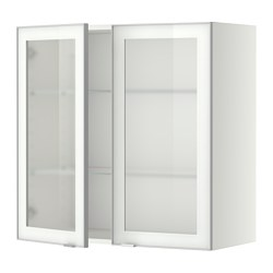 METOD - 吊櫃連層板/1對玻璃門, white/Jutis frosted glass | IKEA 香港及澳門 - PE349403_S3