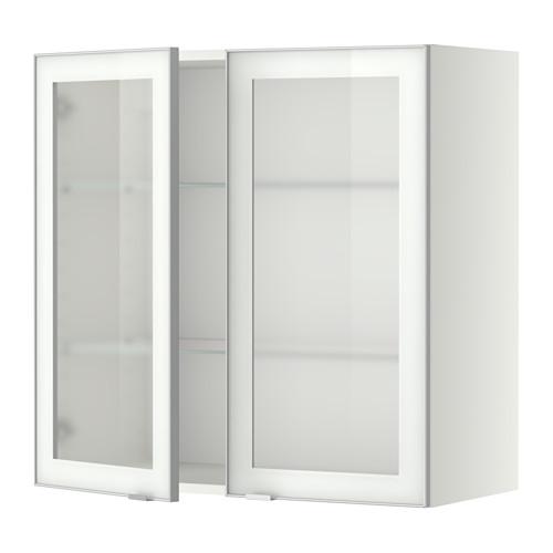 METOD - wall cabinet w shelves/2 glass drs, white/Jutis frosted glass | IKEA Hong Kong and Macau - PE349403_S4