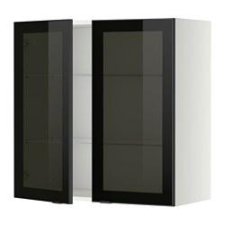 METOD - 吊櫃連層板/1對玻璃門, white/Jutis smoked glass | IKEA 香港及澳門 - PE349404_S3