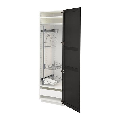 METOD 高櫃連清潔用品櫃內配件
