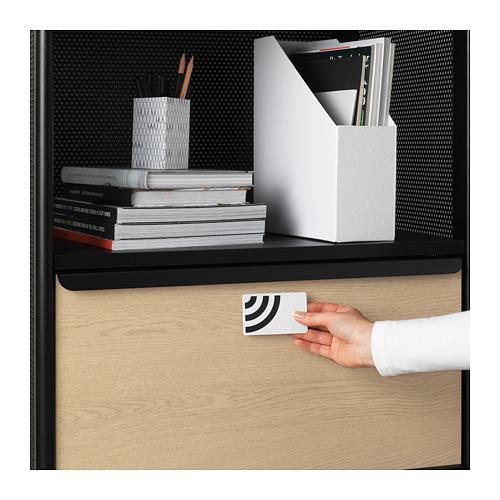 BEKANT - storage unit with smart lock, mesh black | IKEA Hong Kong and Macau - PE724040_S4