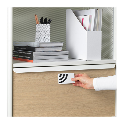 BEKANT - storage unit with smart lock, mesh white | IKEA Hong Kong and Macau - PE724039_S4