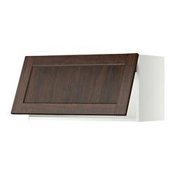METOD - wall cabinet horizontal w push-open, white/Edserum brown | IKEA Hong Kong and Macau - PE357541_S3