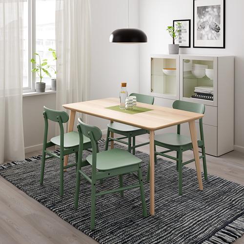 RÖNNINGE/LISABO - table and 4 chairs, ash veneer/green | IKEA Hong Kong and Macau - PE724139_S4