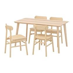 RÖNNINGE/LISABO - 一檯四椅, 梣木飾面/樺木 | IKEA 香港及澳門 - PE724140_S3