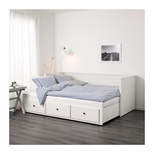 HEMNES - 日間床連3抽屜及2床褥, 白色/Malfors 特級承托 | IKEA 香港及澳門 - PE632055_S4
