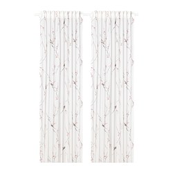 RÖDLÖNN - curtains, 1 pair, white/flower | IKEA Hong Kong and Macau - PE782733_S3