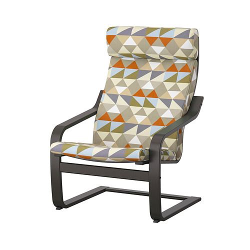 POÄNG - armchair, black-brown/Rockneby multicolour   IKEA Hong Kong and Macau - PE824507_S4