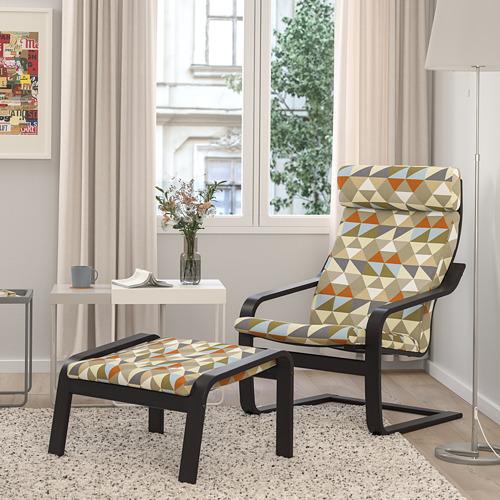 POÄNG - armchair, black-brown/Rockneby multicolour   IKEA Hong Kong and Macau - PE824522_S4