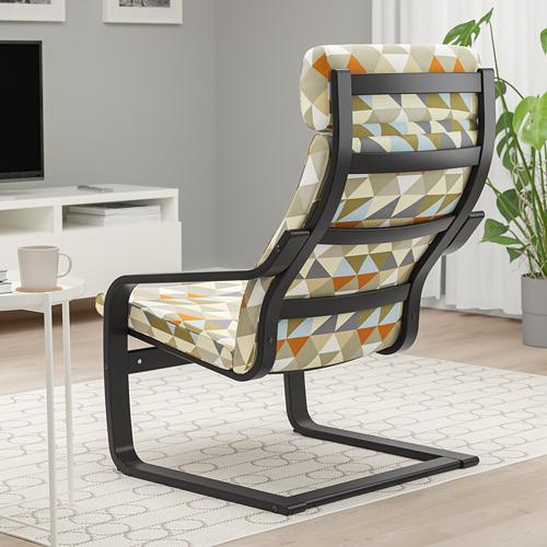POÄNG - armchair, black-brown/Rockneby multicolour   IKEA Hong Kong and Macau - PE824509_S4