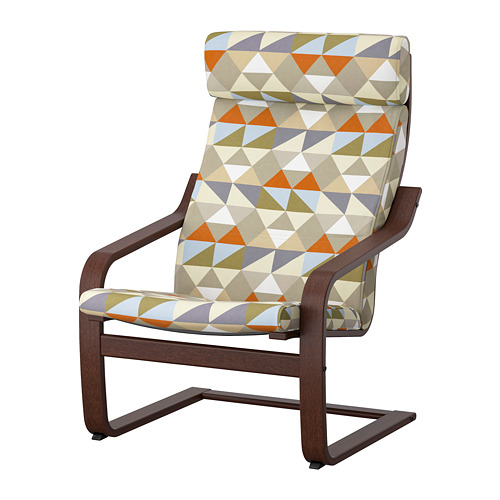 POÄNG - armchair, brown/Rockneby multicolour | IKEA Hong Kong and Macau - PE824511_S4