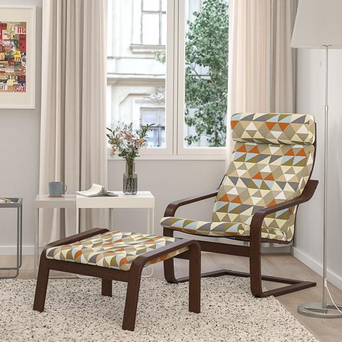 POÄNG - armchair, brown/Rockneby multicolour | IKEA Hong Kong and Macau - PE824508_S4