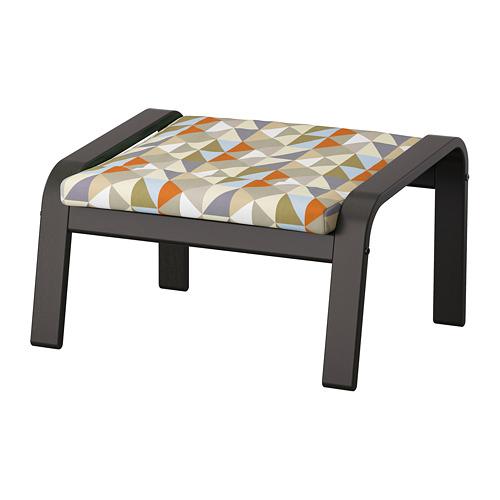 POÄNG - footstool, black-brown/Rockneby multicolour | IKEA Hong Kong and Macau - PE824523_S4