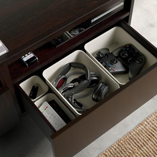 BESTÅ - TV bench with drawers, black-brown/Lappviken/Stubbarp light grey/beige | IKEA Hong Kong and Macau - PE824550_S4