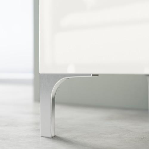 BESTÅ - TV bench, white stained oak effect/Selsviken/Nannarp high-gloss/white frosted glass   IKEA 香港及澳門 - PE824558_S4