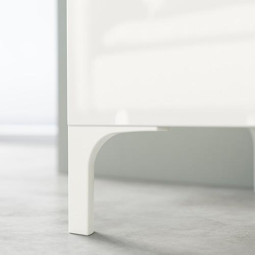 BESTÅ - TV bench, white stained oak effect/Selsviken/Nannarp high-gloss/white clear glass | IKEA 香港及澳門 - PE824560_S4