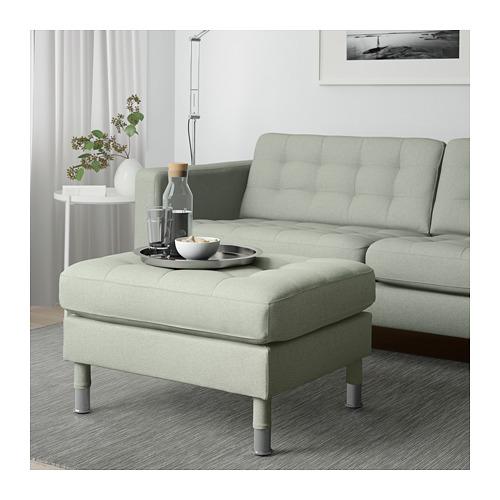 LANDSKRONA - footstool, Gunnared light green/metal   IKEA Hong Kong and Macau - PE680133_S4