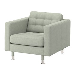 LANDSKRONA - armchair, Gunnared light green/metal | IKEA Hong Kong and Macau - PE680158_S3