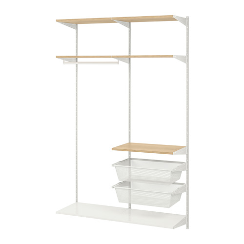 BOAXEL - 2 sections, white/oak | IKEA Hong Kong and Macau - PE770051_S4