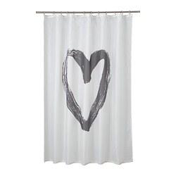 LYKTFIBBLA - shower curtain, white/grey | IKEA Hong Kong and Macau - PE768365_S3