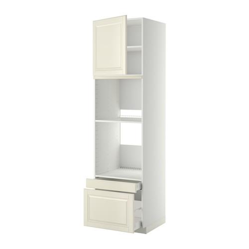 METOD/MAXIMERA - hi cab f ov/combi ov w dr/2 drwrs, white/Bodbyn off-white | IKEA Hong Kong and Macau - PE357027_S4