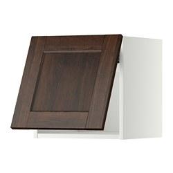 METOD - wall cabinet horizontal w push-open, white/Edserum brown   IKEA 香港及澳門 - PE357456_S3
