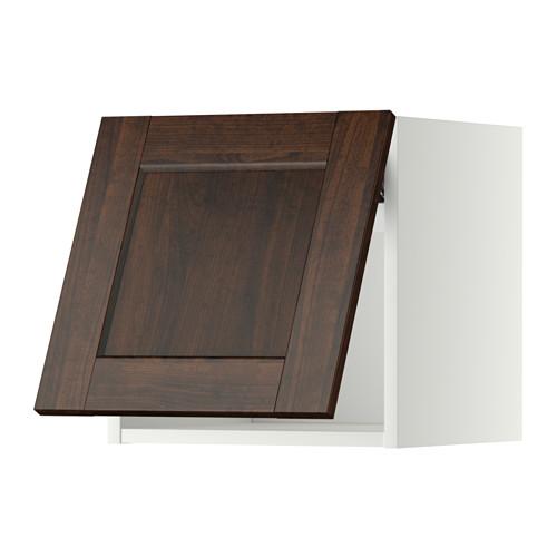 METOD - wall cabinet horizontal, white/Edserum brown | IKEA Hong Kong and Macau - PE357456_S4