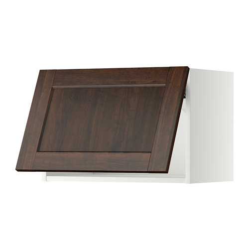 METOD - wall cabinet horizontal, white/Edserum brown | IKEA Hong Kong and Macau - PE357498_S4