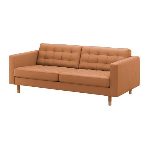 LANDSKRONA - 3-seat sofa, Grann/Bomstad golden-brown/wood | IKEA Hong Kong and Macau - PE680181_S4