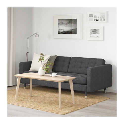 LANDSKRONA - 三座位梳化, Gunnared 深灰色/金屬 | IKEA 香港及澳門 - PE680185_S4