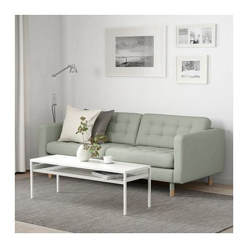 LANDSKRONA - 3-seat sofa, Gunnared light green/wood | IKEA Hong Kong and Macau - PE680192_S4