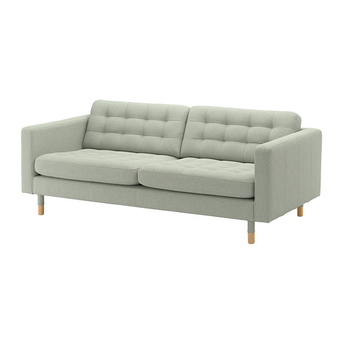 LANDSKRONA - 3-seat sofa, Gunnared light green/wood | IKEA Hong Kong and Macau - PE680191_S4