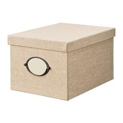 KVARNVIK - storage box with lid, beige | IKEA Hong Kong and Macau - PE768392_S3