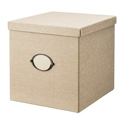 KVARNVIK - storage box with lid, beige | IKEA Hong Kong and Macau - PE768397_S3