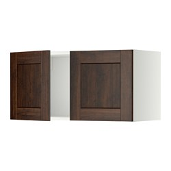 METOD - 雙門吊櫃, 白色/Edserum 褐色   IKEA 香港及澳門 - PE357280_S3