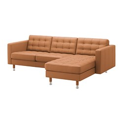 LANDSKRONA - 3-seat sofa, with chaise longue/Grann/Bomstad golden-brown/metal | IKEA Hong Kong and Macau - PE680288_S3