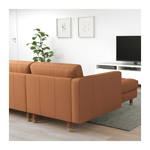 LANDSKRONA - 5-seat sofa, with chaise longues/Grann/Bomstad golden-brown/wood | IKEA Hong Kong and Macau - PE680290_S4