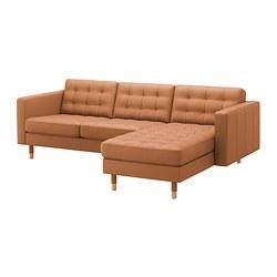 LANDSKRONA - 3-seat sofa, with chaise longue/Grann/Bomstad golden-brown/wood | IKEA Hong Kong and Macau - PE680291_S3