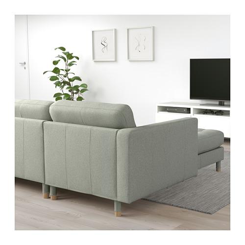 LANDSKRONA - 五座位梳化, 連躺椅/Gunnared 淺綠色/木 | IKEA 香港及澳門 - PE680329_S4